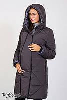 Зимнее пальто для беременных ANGIE р. 44-50 (2 в 1 обычное пальто, пальто для беременных) ТМ Юла Мама OW-47.041