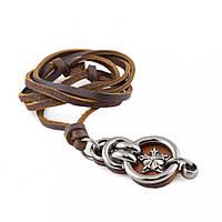 Кулон на кожаном шнурке Everiot NLP-DL-2042 медальон