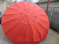 Зонт торговый  3,5м однотонный с серебряным напылением (16 спиц, пластик)