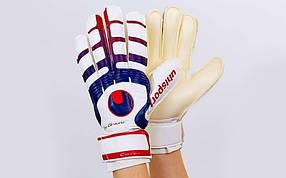 Перчатки вратарские с защитными вставками на пальцах UHLSPORT FB-842-3