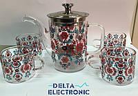 Чайник заварочный+4 чашки 550-4А