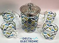 Чайник заварочный+4 чашки 550-4В