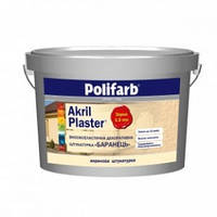 Штукатурка акриловая Akril-Plaster, Короед 2мм. Polifarb, 25,0 кг Tristan 6