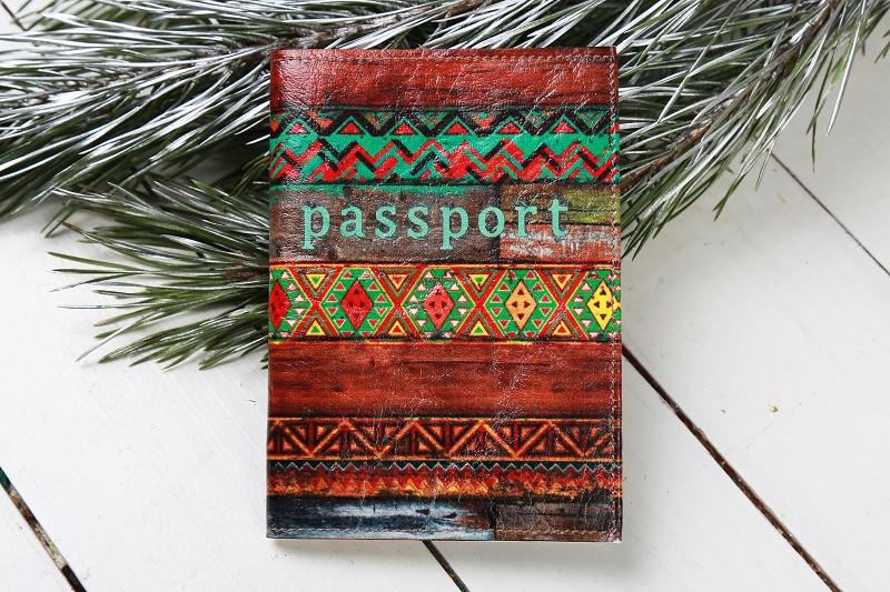 Обкладинка на Паспорт / Смугастий / Кожзам