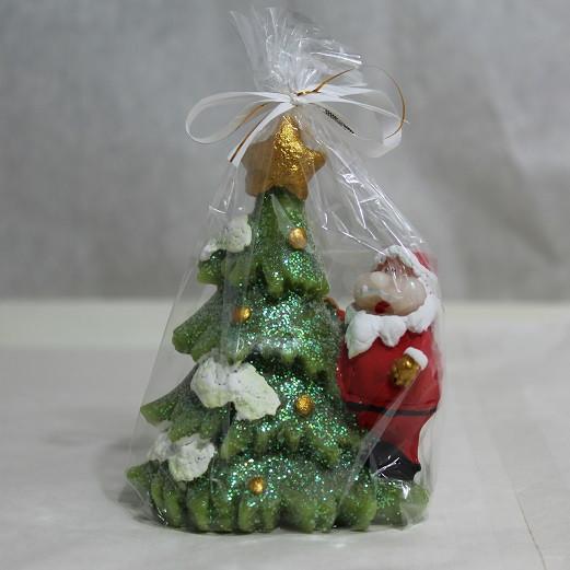 Свічка Новорічна Свічка новорічна Дід Мороз з Ялинкою 8.0 x 6.0 x 0.0 см