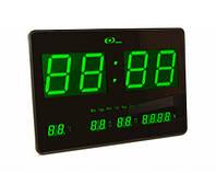 Часы электронные настенные большие зеленые 4632-5/GREEN
