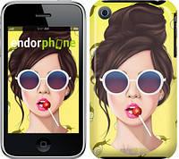 """Чехол на iPhone 3Gs Девушка с чупа-чупсом """"3979c-34-8079"""""""