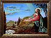 Ісус на Оливній горі з бурштину