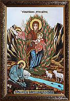 Икона Неопалимая купина из янтаря