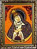 Остробрамська ікона Божої Матері з бурштину
