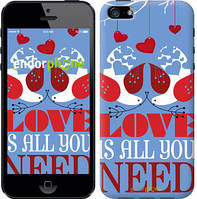 "Чехол на iPhone 5s Love is all you need ""3462c-21-8079"""