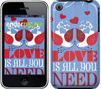 "Чехол на iPhone 3Gs Love is all you need ""3462c-34-8079"""