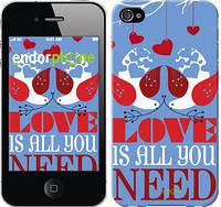 "Чехол на iPhone 4s Love is all you need ""3462c-12-8079"""