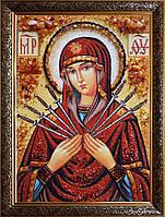 Семистре́льная ико́на Бо́жией Ма́тери из янтаря
