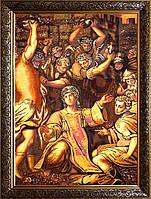 Икона Стефаний Первомученик из янтаря