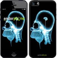 """Чехол на iPhone 5 Гомер. Томография """"652c-18-8079"""""""