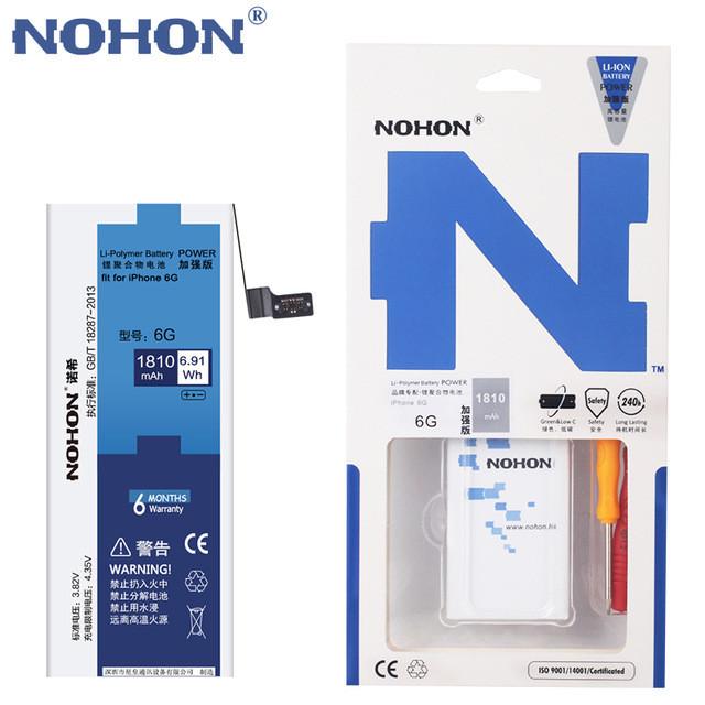Аккумулятор Nohon 616-0807 для Apple iPhone 6 (емкость 1810mAh)
