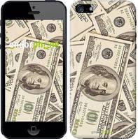 "Чехол на iPhone 5 Доллары ""3016c-18-8079"""