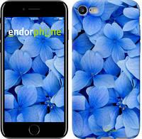 """Чехол на iPhone 7 Синие цветы """"526c-336-8079"""""""