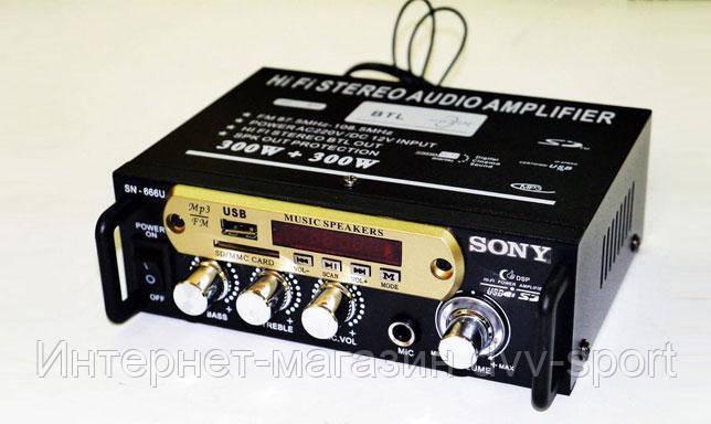 Усилитель Звука Sony SN-666U FM USB 2x300 Вт - Интернет-магазин dvv-sport в Харькове