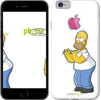 """Чехол на iPhone 6 Симпсоны, Гомер с яблоком """"937c-45-8079"""""""