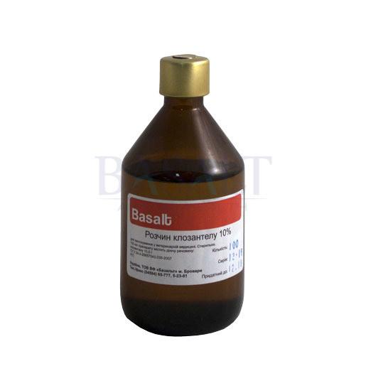 Клозантел 10% 100 мл (Базальт) ветеринарный противопаразитарный препарат