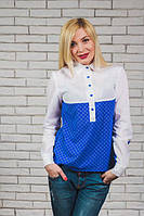 Блузка с принтом (в наличии большие размеры)