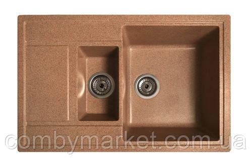 Кухонная мойка Галац JORUM 78D TERACOTA (701), 78х50х22 см