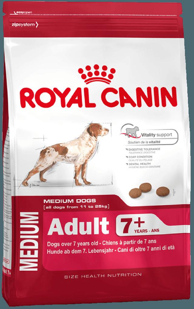 Корм Royal Canin (Роял Канін) MEDIUM ADULT 7+ (МЕДІУМ ЭДАЛТ) для собак середніх порід у віці 7 років