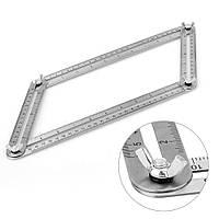 Шаблометр металевий, зєднані лінійки, шаблон з нержавійки для укладки плитки, кахелю, паркету, тощо.