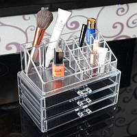 Косметичка Makeup Cosmetics Organizer Drawers Grids Display Storage Clear Acrylic, фото 1