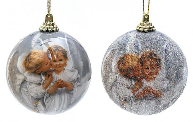 Елочный шар маленькие Ангелочки, фото 2