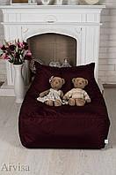 Кресло мешок диван 60х80х90 (L) бордо
