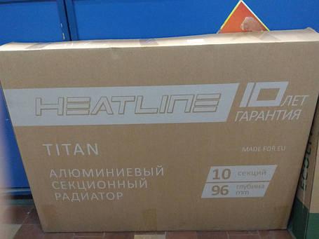 Радіатор алюмінієвий Heat Line Titan 500/96, фото 2