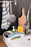 Кухонный аксессуар с емкостью для хранения и жидкого мыла, фото 3