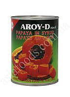 Папая в сиропе Aroy-D 565 г, фото 1