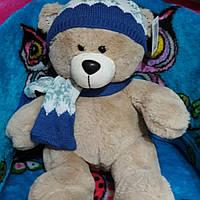 Мягкая игрушка Мишка в шапке и шарфе, 50 см
