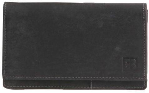 Вместительное мужское портмоне из натуральной кожи Enrico Benetti Leather, Eb67010 001 черный