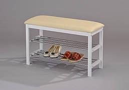 Скамейка для обуви W-38  (цвет белый)