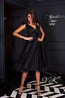 Женское  вечернее платье с  легкой пышной юбкой