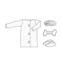 Комплект одежды для посетителя №6, стерильный, Украина, ТМ Славна