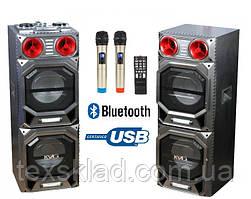 Комплект акустики с беспроводными микрофонами E-262 500Watt(USB/Bluetooth)
