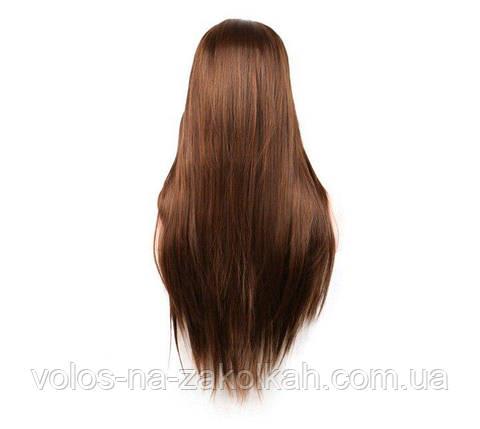 Парики без челки длинный ровные парик светло-коричневый парик русый длинный, фото 2