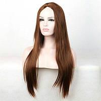 Парики без челки длинный ровные парик светло-коричневый парик русый длинный