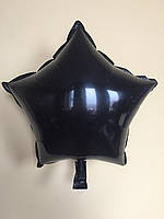 """Фольгированные шары """"Звезды"""" 18"""" (45 см)  Черный Balloons"""