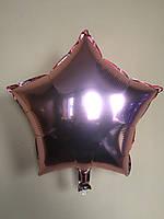 """Фольгированные шары """"Звезды"""" 18"""" (45 см)  Розовое золото Balloons"""