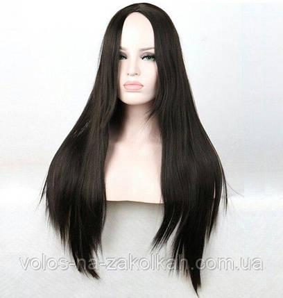 Парики без челки длинный ровные парик черный ровный черные парики, фото 2