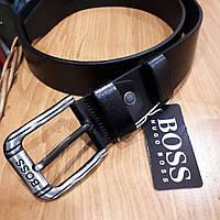 Ремень Hugo Boss  кожаный черный