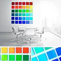 Разноцветные деревянные панели для дизайнерского оформления
