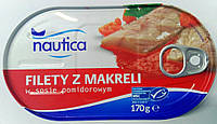 Консервированная макрель в томатном соусе Nautica 170g (Польша)